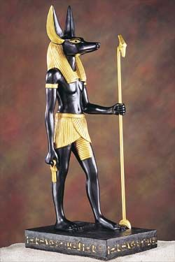 This is one of the statues from egypt.This is the werewolf leader Anubis.He was actually found with a pack of wolves.(every picture on pyramids are true)