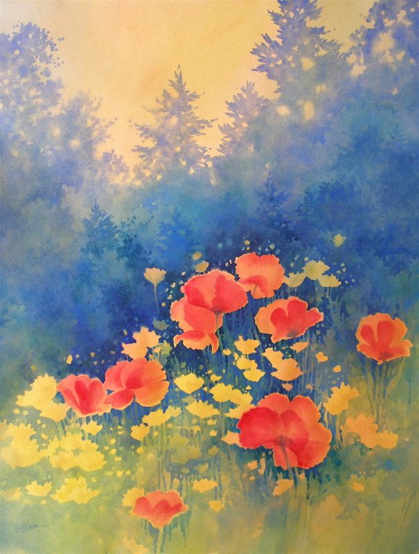 poppies Galleries of Available Paintings - Alexis Lavine: Luminous Watercolors & Inspiring Art Instruction