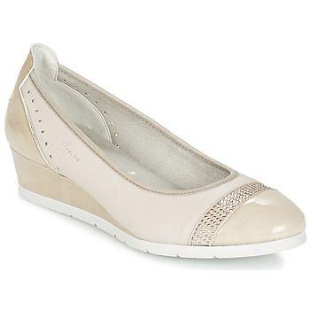 Moda e comfort per questa ballerina Dorking da portare tutti i giorni. Il suo gambale in  di colore  si associa a tutti i look, per renderli ancora più preziosi. La fodera della ballerina Deseo è in tessuto. Per assicurare una leggerezza ed un comfort ottimali, la scarpa presenta una suola in gomma. Una scarpa da donna che conquisterà subito i nostri gusti! - Colore : Beige - Scarpe Donna 72,80 €