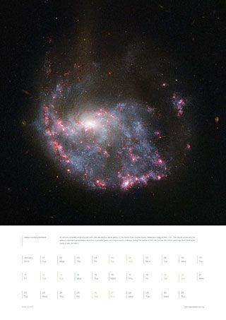 January from the Hubble 2013 calendar | ESA/Hubble. Image credit: ESA/Hubble