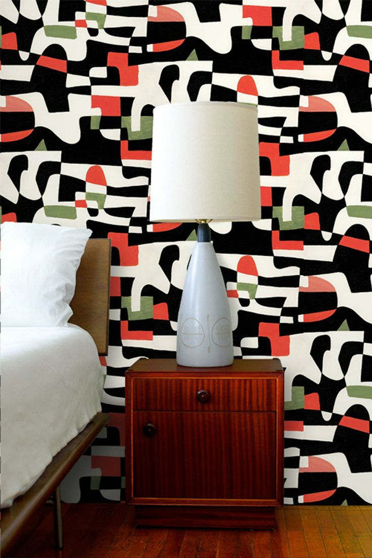 Multicolor Jim Floras Shape Shifter Removable Wall Decal By Astek Wall Tiles  On