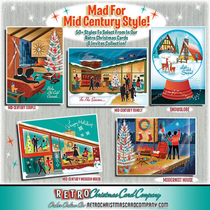 28 best Mid Century Modern Christmas Party Invitations images on ...