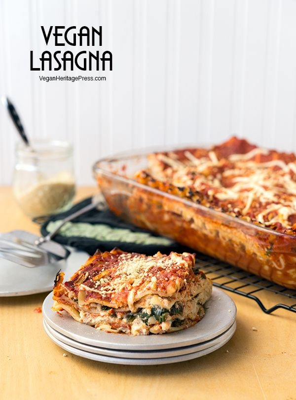 Vegan Lasagna from NYC Vegan by Michael Suchman and Ethan Ciment