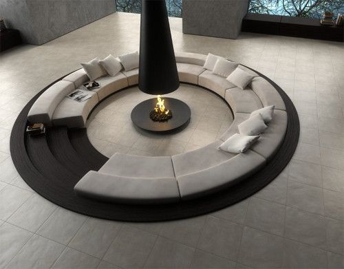 Fire circle- tell me that this isn't the epitome of deviating from the norm. I want something like this in my home ; )