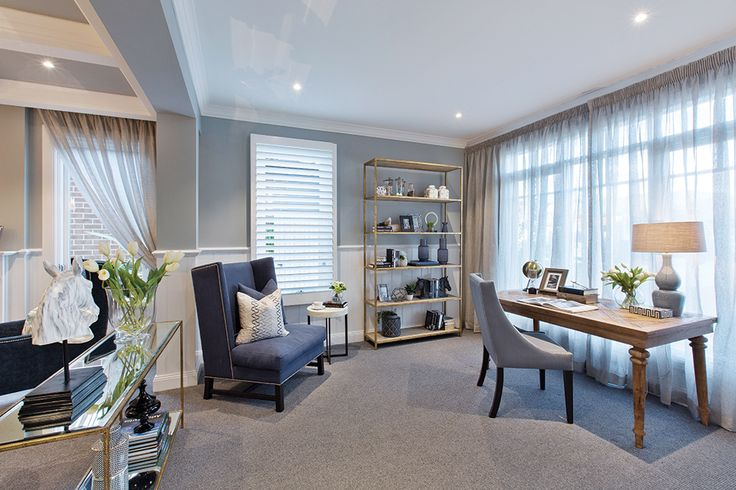 The study in the Astor Grange with Classic Hamptons World of Style.