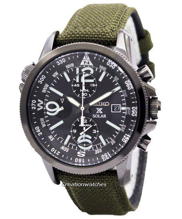 Reloj Seiko Prospex Solar militar alarma Cronógrafo SSC295P1 SSC295P de los hombres