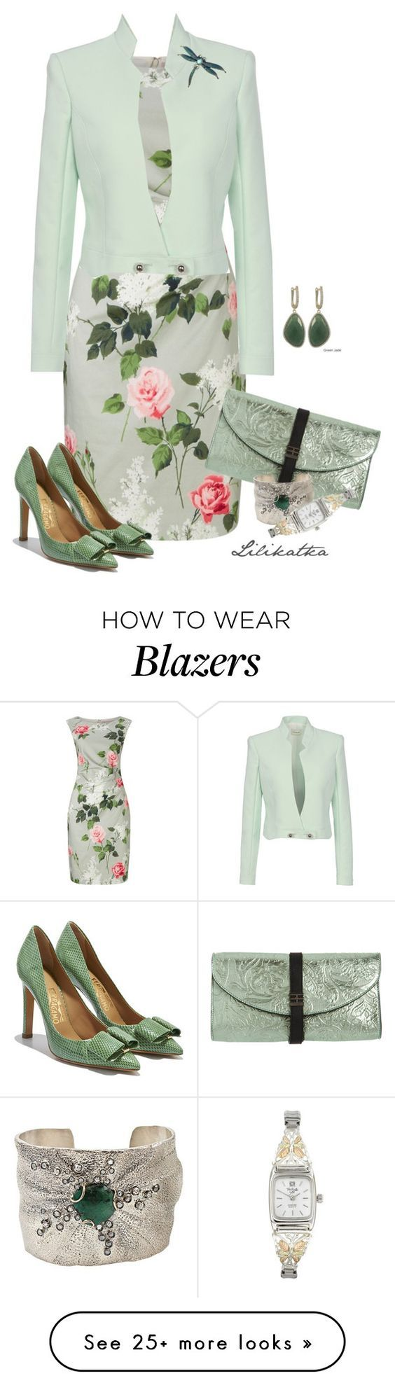 """""""Pivonka#1261"""" by lilikatka on Polyvore featuring Phase Eight, Thierry Mugler, Salvatore Ferragamo, Reece Hudson and Federica Rettore:"""