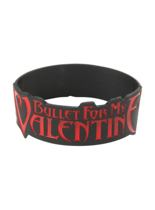 Rubber Bracelet From Bullet For My Valentine With A Temper Temper Union  Jack Design.