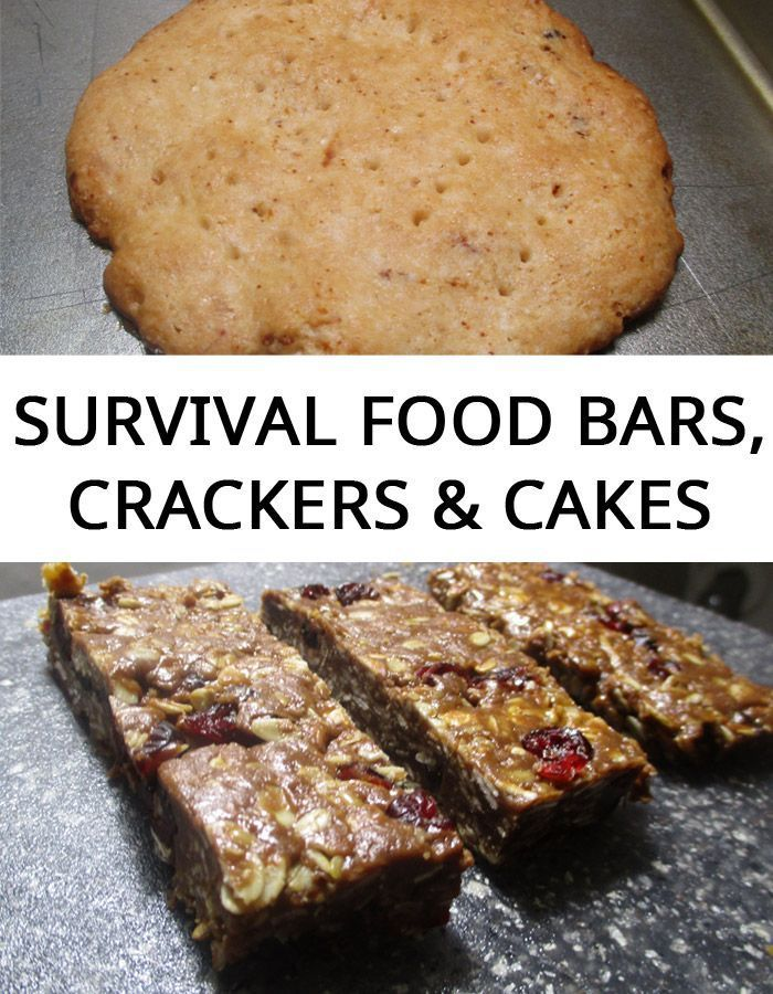 Survival Food Bars Crackers Cakes Food Bars Recipes Survival Food