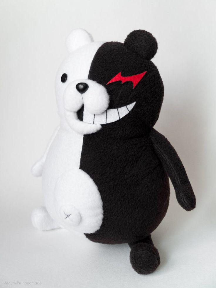 Monokuma plush toy. Danganronpa. 14' tall