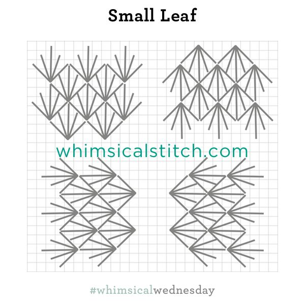 Small Leaf Stitch from August 10, 2016 whimsicalstitch.com/whimsicalwednesdays blog post