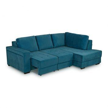 Por que o Sofá com Chaise Stela?Tem coisa mais gostosa do que se jogar em um sofá bem fofinho depois de um dia corrido e agitado? Para que você tenha mais conforto e aconchego neste e em outros momentos, o Sofá Stela é a melhor opção para manter o espaço mais agradável e com uma linda aparência. Criado na cor azul, proporciona uma decoração marcante. O móvel tem a estrutura firme, de qualidade e traz o revestimento macio e leve feito em veludo. Para tirar aquele cochilo com mais conforto e…