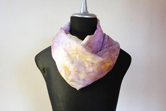 sciarpa seta tinta a mano/stola seta/sciarpa viola/scarf silk hand dyed/foulard seta/ shibori scarf/ shibori sciarpa/ marble/100%silk