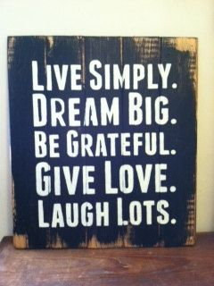 Live Simply Dream Big Sign by OttCreatives on Etsy, $35.00