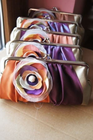 Sweet bridesmaids gifts ~ lovely bags; always with an individual hand-written-note. That is the sure way to any woman or man's heart. . .