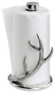 Antler Paper Towel Holder - traditional - cabinet and drawer organizers - by Arthur Court Designs