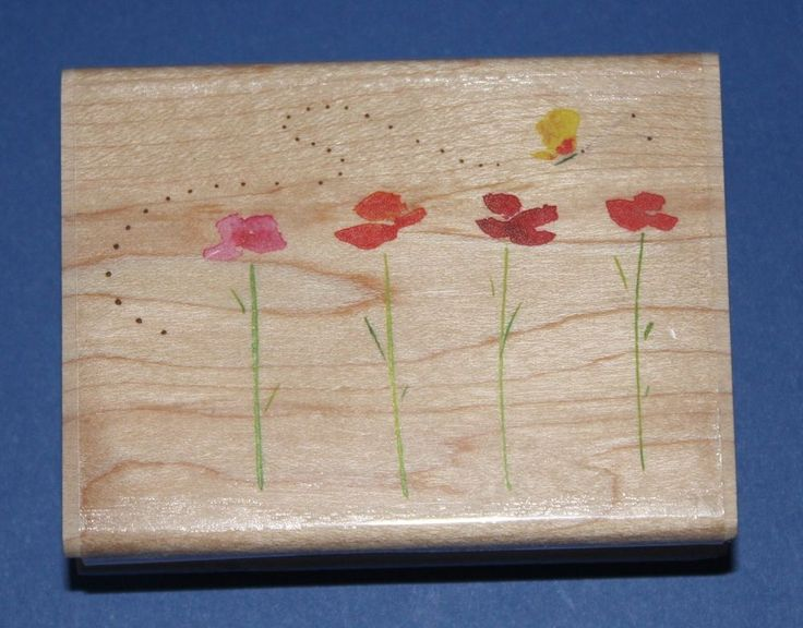 NEW Inkadinkado  Garden Flight Path  Wooden Backed Rubber Stamp 97801DD