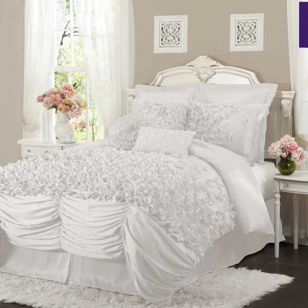 Luxury White Bed Linen Part - 30: Nathalie Comforter Set In White. Find This Pin And More On Luxury Bedding  ...
