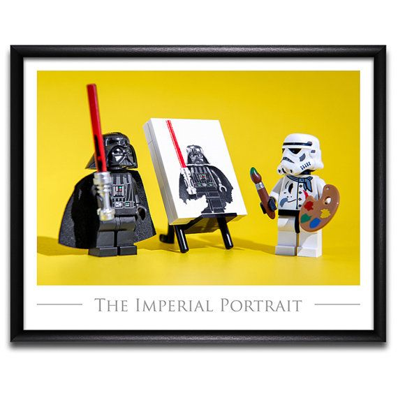 LEGO ® Star Wars ™ inspiré Kids Room Decor Photo Art cadeau idées - Original LEGO ® Style Art Print: « Portrait impérial »