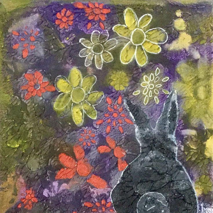 Original Art. Un beau petit lapinot pour une chambre d'enfant et de plus, une œuvre originale!