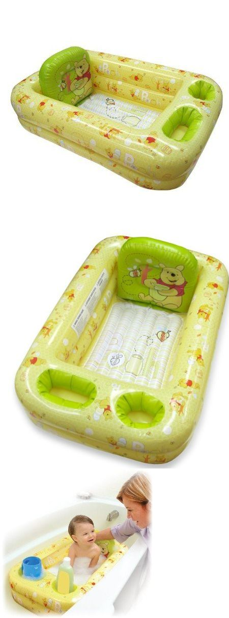 Disney Winnie the Pooh - Inflatable Safety Bathtub for Baby - Winner - 2011 Seal of Approval - The National Parenting Center     Parents shouldn't dread the struggles of bath time; our inflatable safety bathtubs are equipped with all the bathing basics to wash mor... - Baby Bath - Baby - $19.99