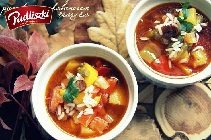 Zupa paprykowa z kabanosem. #papryka #kabanos #pudliszki #przepis