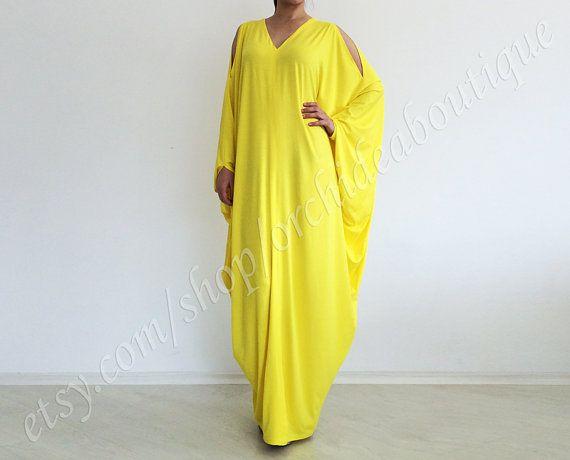 Yellow maxi dresses plus size