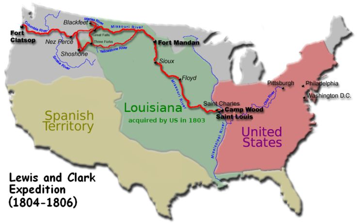The Lewis and Clark Expedition was the first American expedition to cross the western portion of the U.S. departing in May, 1804 from St. Louis, making their way westward through the continental divide to the Pacific coast. The expedition was commissioned by President Thomas Jefferson shortly after the Louisiana Purchase. The objectives were to explore and map the newly acquired territory, find a practical route across the Western half of the continent, and establish an American presence…