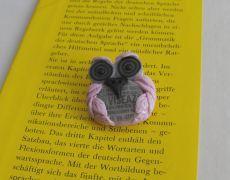 Wise owl - polymer clay brooch,brosa argila polimerica,unicat