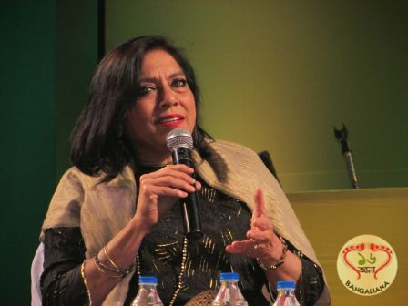 Mira Nair was in Kolkata to attend the Apeejay Kolkata Literary Festival. This was the opening session of the literary festival titled Salaam Mira.