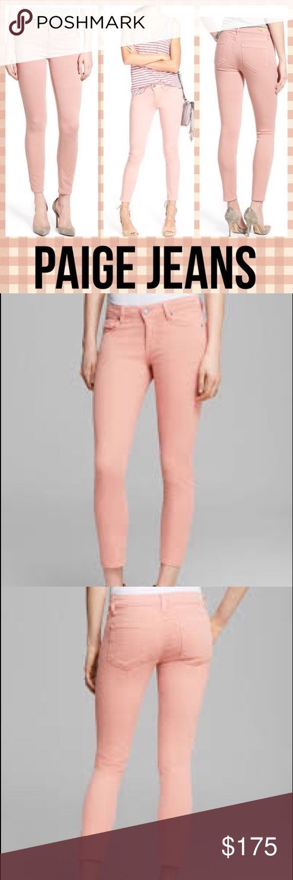PAIGE VERDUGO ANKLE - SOFT PINK Redefining the standards of luxury, the Verdugo Ankle jean features our innovative, TRANSCEND fiber technology that promises a luxuriously soft feel, comfortable fit and unyielding support. This best-selling silhouette is transformed with a Soft Pink coloring to give your wardrobe basic a modern update. A slightly shorter inseam falls just above the ankle bone for an elongating effect, while our ultra skinny fit gives this denim versatile styling potential…
