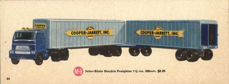 Matchbox Major Pack M-9 Inter-State Double Freighter Cooper-Jarrett, Inc.