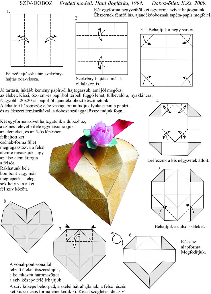 Origami Heart Instructions Notebook Paper