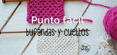 Un punto especial para tejer cuellos y bufandas de chicos y chicas: bonito, fácil y no se enrosca #soywoolly #puntosnuevos #puntosfaciles #bufanda #cuello #dosagujas #tricot #palillos #tutorial #tejidos