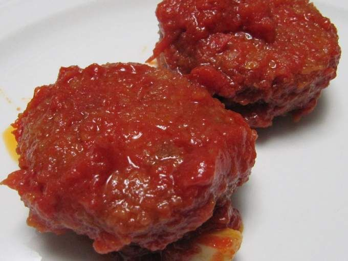 Succulenti polpette con fagioli borlotti insaporite in salsa di pomodoro e rosmarino - Ricetta Portata principale : Polpette di fagioli borlotti da Nick19
