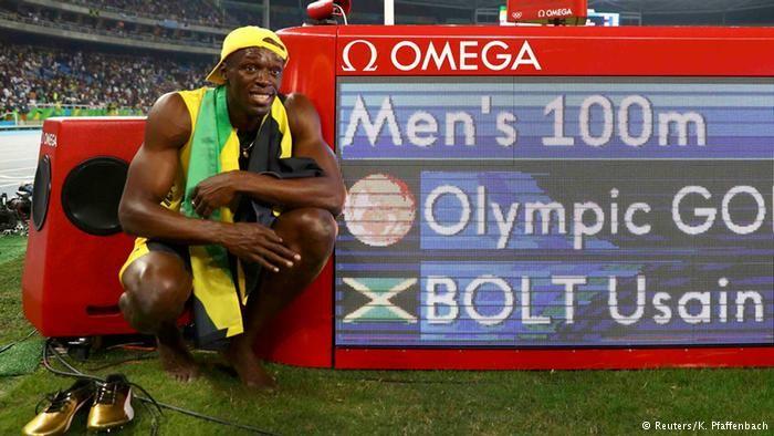 Rio Momente 14 08 Leichtathletik 100 m Männer Finale Usain Bolt