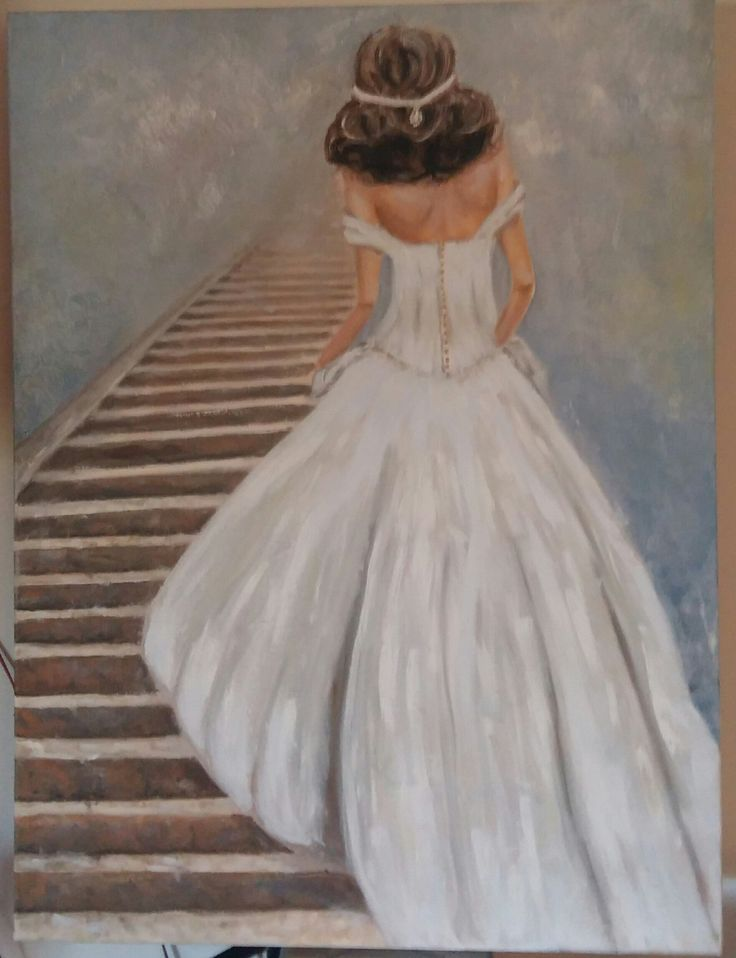 "Oil on Canvas ""Stairway of Love"""