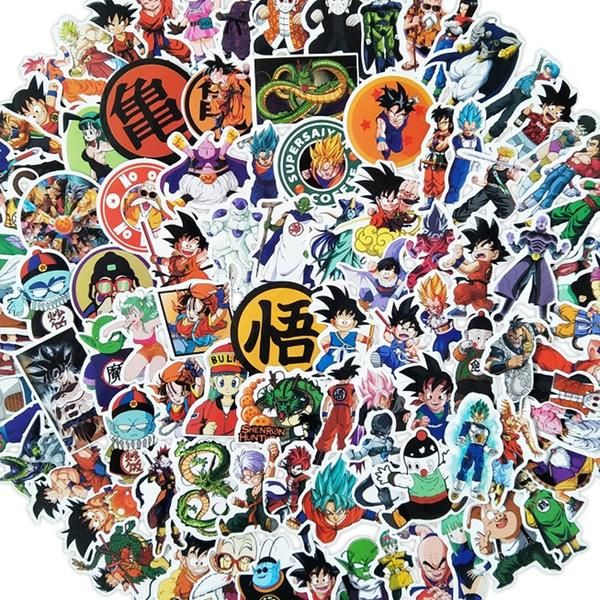 100 Pcs Anime Dragon Ball Z Super Saiyan Goku Stickers Decal For Laptop Phone