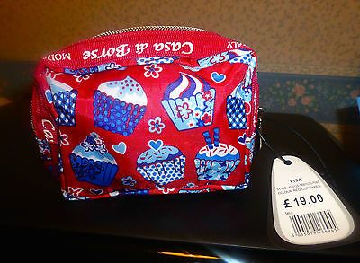 "Casa di borse (moda #italy) handy make-up bag ""pisa"" #new+tag cupcake #design red,  View more on the LINK: 	http://www.zeppy.io/product/gb/2/351647039271/"