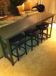 Long skinny bar table