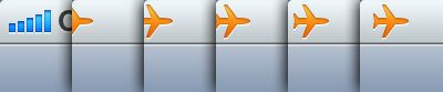 http://littlebigdetails.com/post/5478914322/ios-when-you-enable-airplane-mode-on-iphone-a  iOS - When you enable airplane mode on iPhone, a little airplane icon flies from the edge of the screen.  /via marianmraz