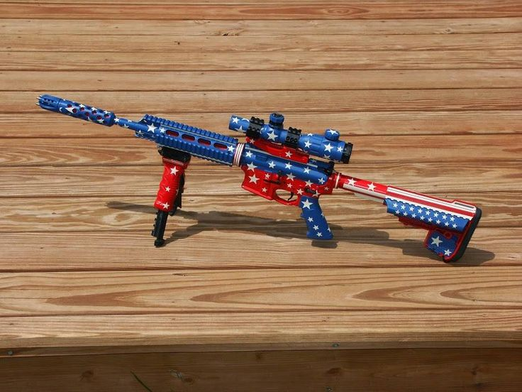 """Get Patriotic with DuraCoat! Try the new """"Made in America"""" CamoPak and Template to recreate this flag camo! www.lauerweaponry.com"""