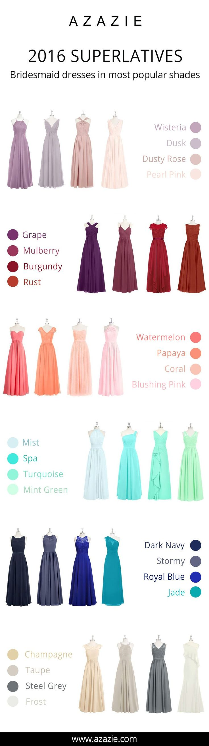 Azazie is the online destination for special occasion dresses. Our online boutique connects bridesmaids and brides with over 400 on-trend styles, where each is available in 50+ colors. Image source