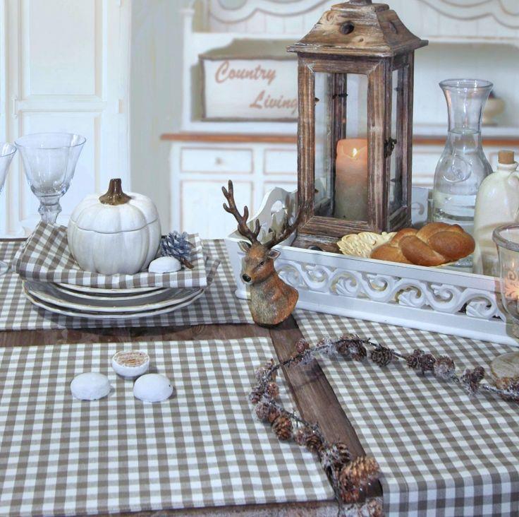 Karo ist besonders schön im Herbst und zu Weihnachten: Tischsets OSLO von Sander
