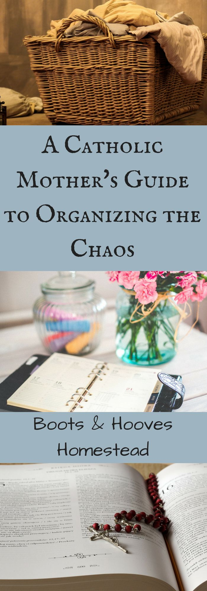 This post is about how I got myself together, how I organized my home to run smoothly. How I organized the chaos. As a Catholic mother with little ones.