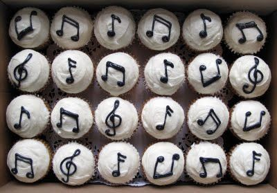 17. Sweet eats or savory treats:  music note cupcakes  #modcloth #wedding
