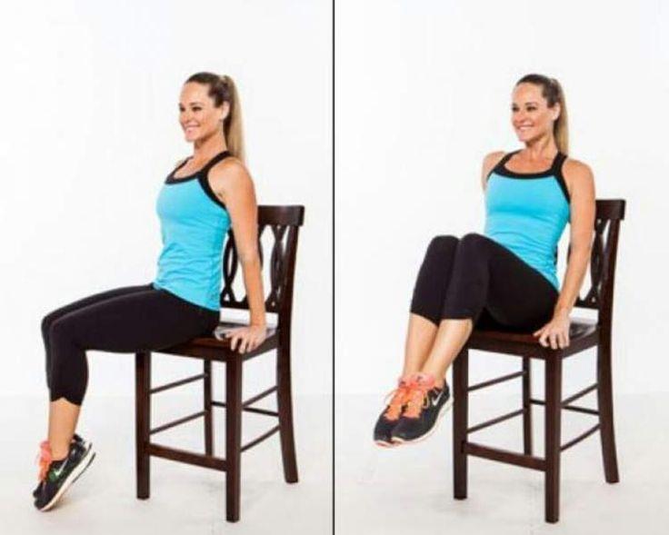 Exercícios para derreter gordura que podem ser feitos com ajuda de uma cadeira
