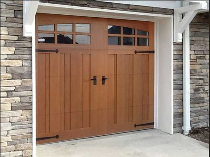 25 b sta wooden garage doors id erna p pinterest for Fake wood garage doors
