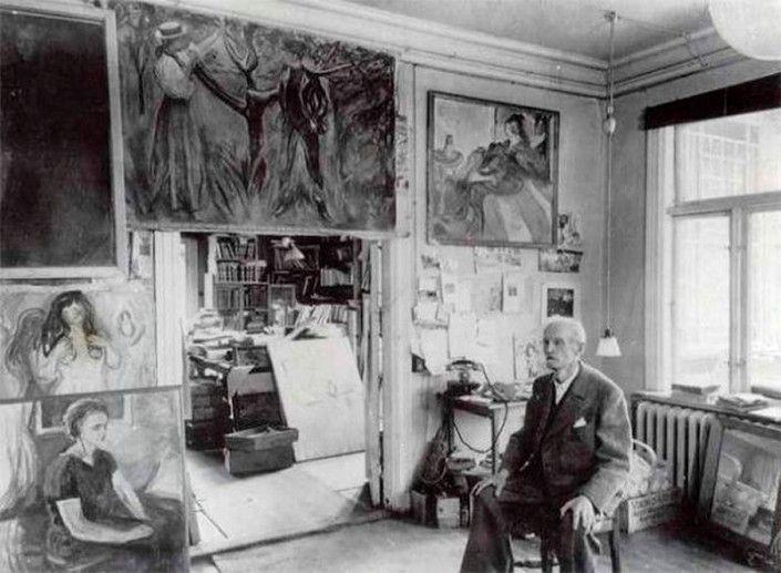 В мастерской: 20 фотографий знаменитых художников. Эдвард Мунк