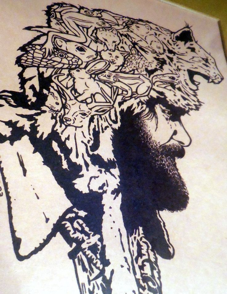 """Original Print,Look Closely! Signed and Numbered, """"The Mountain Man"""", Matted and Framed- by VintagePerformance on Etsy"""